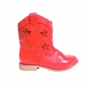 Gymboree Red Star Low Calf Cowgirl/boy Boots Sz 11